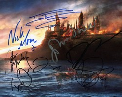Harry Potter 7.1 Autographed by 8 SIGNED IN PERSON 10x8 Photo