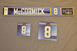 Cody McCormick Buffalo Sabres Locker Room Nameplate, Stick Plate, Dry Stall Plate 2010-11 Season