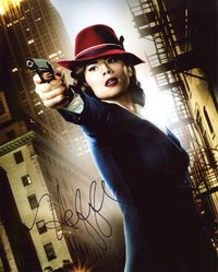 Hayley Atwell Autograph Agent Carter signed in person 10x8 photo
