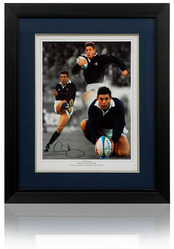 Gavin Hastings large hand signed Montage
