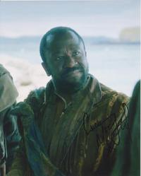 Lucian Msamati SIGNED IN PERSON 10x8 photo GAME OF THRONES