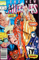 Marvel Comics, The New Mutants #98 comic book signed by Rob Liefeld