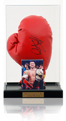 Carl Froch Hand Signed Boxing Glove in display case