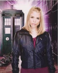 Billie Piper Autograph Doctor Who signed in person 10x8 photo Dr Who AFTAL