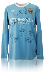 Manchester City hand signed shirt