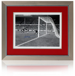 "Jim Montgomery Save Hand Signed Sunderland 1973 FA Cup Final framed 16x12"" photo"