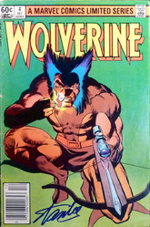 Marvel, Wolverine #4 signed by Stan Lee