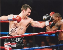 "Carl Froch ""THE COBRA"" SIGNED IN PERSON 10x8 photo"