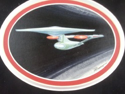 ORIGINAL Star Trek Enterprise painting by Probert