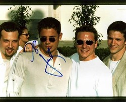 98 Degrees Signed Justin Autographed Photo & Proof