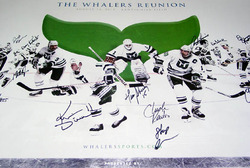 1985-86 Hartford Whalers Team Autograph Signed Poster & Proof
