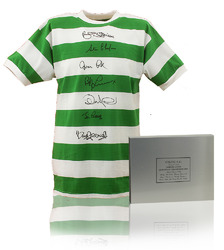 CELTIC 1967 European Cup Shirt Hand Signed by 7 Lisbon Lions
