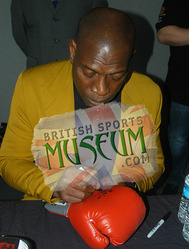 Frank Bruno Hand Signed  Boxing Glove