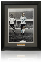 CHARLIE GEORGE Hand Signed Derby County 16x12 inch Photograph