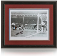 Geoff Hurst hand signed 1964 FA Cup Final goal photograph
