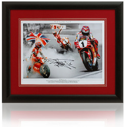 "Carl Fogarty Hand Signed 16x12"" Superbikes montage"