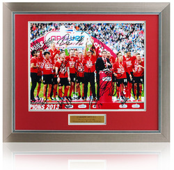 "Cardiff City Champions 2012/13 Hand Signed 16x12"" Framed Squad Photo"
