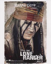 Johnny Depp Autograph THE LONE RANGER signed in person 10 x 8 photo