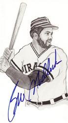 Bill Matlock Signed Post Card