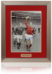 Jack Charlton hand signed 1966 world cup photograph