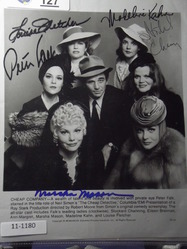 Falk, Peter - Channing - Bresnnan - Ann-Margret - Mason - Kahn - Fletcher  - authentic autographs