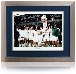 "Leeds United 1972 FA Cup 16x12"" Photo Hand Signed by 9"