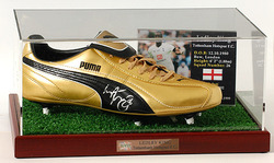 LEDLEY KING Hand Signed Football Boot