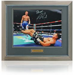 "George Groves hand signed 16x12"" Froch Fight Boxing Photo"