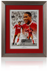 "John Barnes 16x12"" hand signed Liverpool Montage."
