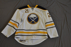 Drew Stafford Game Worn Buffalo Sabres Away Jersey 2010-11 Season Set 3 Size 54 Serial #4223
