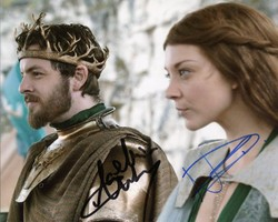 Natalie Dormer & Gethin Anthony AUTOGRAPH Game Of Thrones SIGNED IN PERSON 10x8 photo