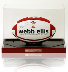 SCOTT QUINNELL Hand Signed WRU Rugby Ball