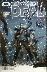 Image, Walking Dead #5  signed by Tony Moore and Robert Kirkman