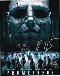 Prometheus AUTOGRAPHS Signed by 7 - SIGNED IN PERSON 10x8 photo
