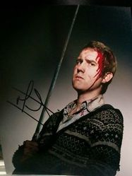 Matthew Lewis Autograph HARRY POTTER signed in person 10 x 8 photo