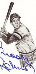 Brooks Robinson Signed Post Card