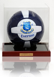 EVERTON 1984/5 Hand Signed Ball Football