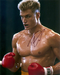 Dolph Lundgren signed 10x8 photo