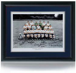 Tottenham 1961 Double Winners hand signed photograph