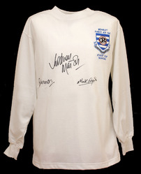 QPR 1967 Cup Final Shirt Signed Marsh Morgan & Lazarus