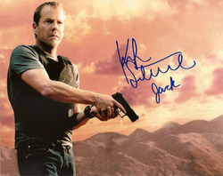 Kiefer Sutherland signed 10x8 photo.