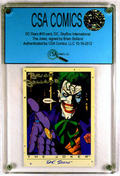 DC Stars #10 card, signed by Brian Bolland