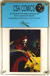 The Reaper Commands #13 card, signed by Jim Steranko