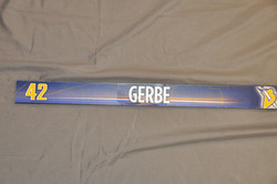 Nathan Gerbe Buffalo Sabres Locker Room Nameplate 2009-10 Season