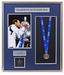 Large Hand Signed Petr Cech European Cup medal Presentation
