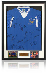EVERTON 1985 Squad Hand ECWC Final Shirt Hand Signed by 15