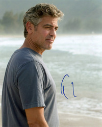 George Clooney signed 10x8 photo.