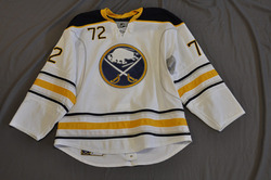 Luke Adam Game Worn Buffalo Sabres Away Jersey 2010-11 Season Set 3 Size 56