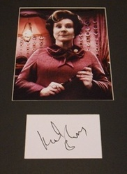 Imelda Staunton Signed Index Card Presentation Harry Potter