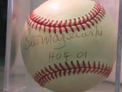Bill Mazeroski signed and inscribed baseball.